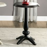Saira Round Accent Table, Antique Black Product Image