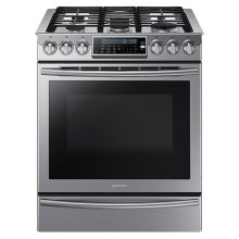 Open Box  Slide-In Gas Range with True Convection