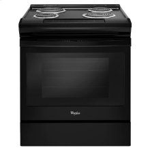 Whirlpool® 4.8 cu. ft. Guided Electric Front Control Coil Range - Black