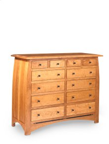 Aspen 12-Drawer Bureau with Inlay, Medium