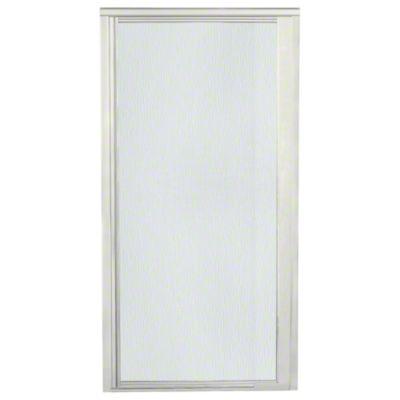 """Vista Pivot™ II Shower Door - Height 65-1/2"""", Max. Opening 36"""" - Nickel with Rain Glass Texture"""