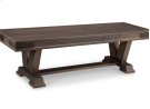 "Chattanooga 60"" Pedestal Bench in Fabric or Bonded Leather Product Image"