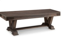 """Chattanooga 60"""" Pedestal Bench in Fabric or Bonded Leather Product Image"""