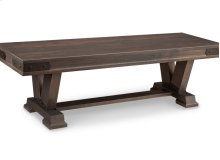 "Chattanooga 60"" Pedestal Bench with Leather Seat"