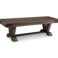 "Chattanooga 60"" Pedestal Bench with Fabric Seat"