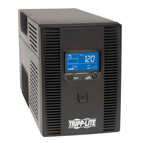 SmartPro LCD 120V 1500VA 900W Line-Interactive UPS, AVR, Tower, LCD, USB, 10 Outlets