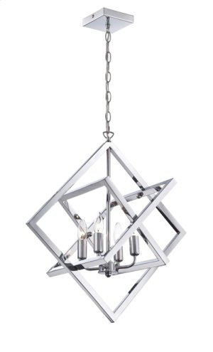 4-lite Pendant, Chrome, E12 Type B 60wx4
