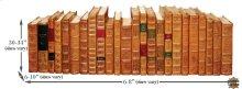 Faux Tan Leather Books, Set Of 24