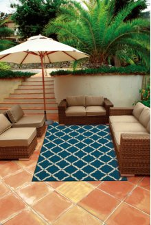 Portico Por01 Navy Rectangle Rug 10' X 13'