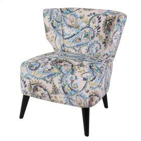 Cristen KD Fabric Accent Chair Black Legs, Mazarine Paisley
