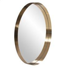 Steele Brass Round Mirror