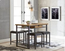 STANDARD 12511-12514 Ridgewood Entertainment Bar Table With 4 Metal Stools