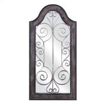 Riad Wooden Frame Mirrored Wall Decor