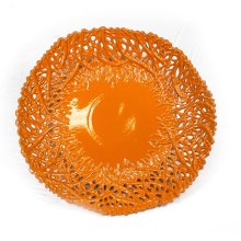 Decorative Ceramic Coral Plate, Orange
