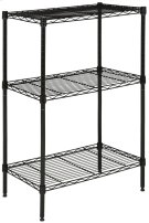 Sierra Mini 3 Tier Chrome Wire Rack (23 In. W X 13 In. D X 35 In. H) - Black Powder Coated Product Image