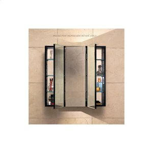 """Pl Series 36"""" X 30"""" X 4"""" Three Door Cabinet With Bevel Edge, Black Interior and Non-electric Product Image"""