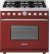 Additional Range DECO 36'' Classic Red matte, Chrome 6 gas, gas oven