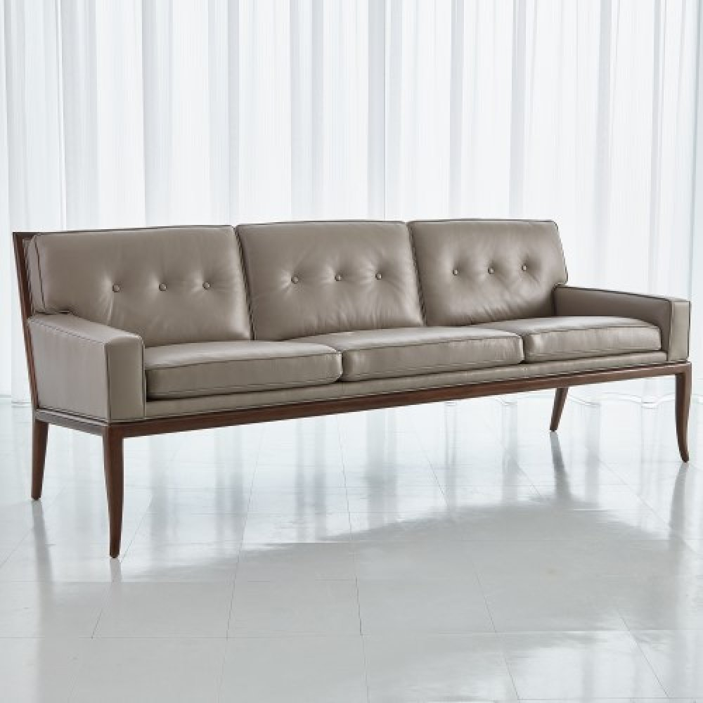 Wilson Sofa-Grey Leather