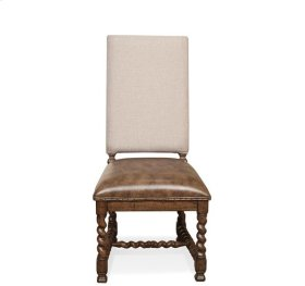 Pembroke Upholstered Side Chair Hunt Club Brown finish