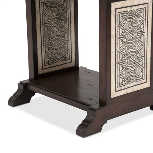 La Paz End Table W/stone Etched Inlay