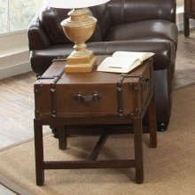 Latitudes - Suitcase Side Table - Aged Cognac Finish