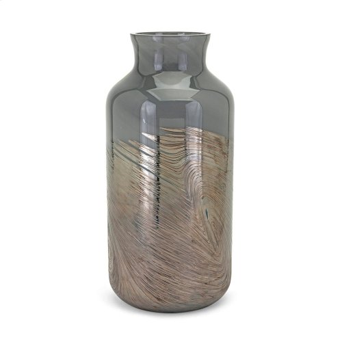 Montag Large Art Glass Vase