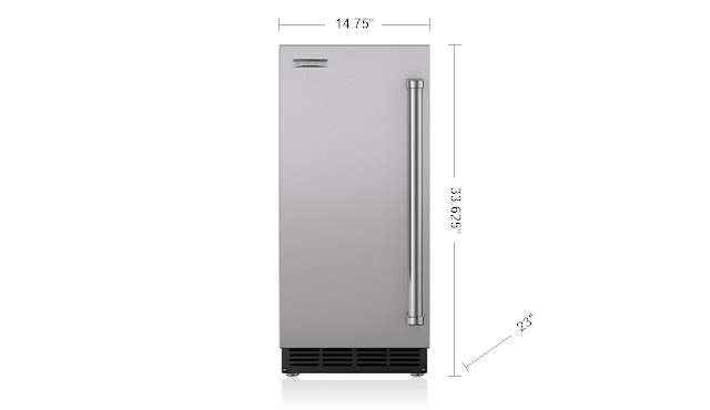 "15"" Ice Maker with Pump - Panel Ready Photo #2"