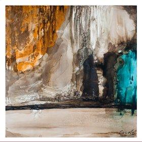 "Oil Painting ""Blue Eruption"""