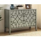 Transitional Silver Two-door Accent Cabinet Product Image