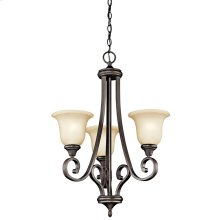 Monroe 3 Light Chandelier with LED Bulbs Olde Bronze®