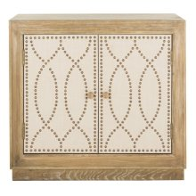 Yuna 2 Door Chest - Rustic Oak / Copper / Mirror