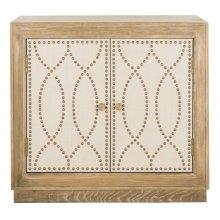 Yuna 2 Door Chest - Rustic Oak / Copper / Mirror