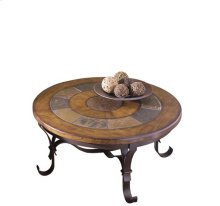 Stone Forge Round Coffee Table Tuscan Sun / Antique Bronze finish