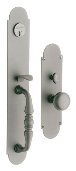 Satin Nickel with Lifetime Finish Lancaster Entrance Trim