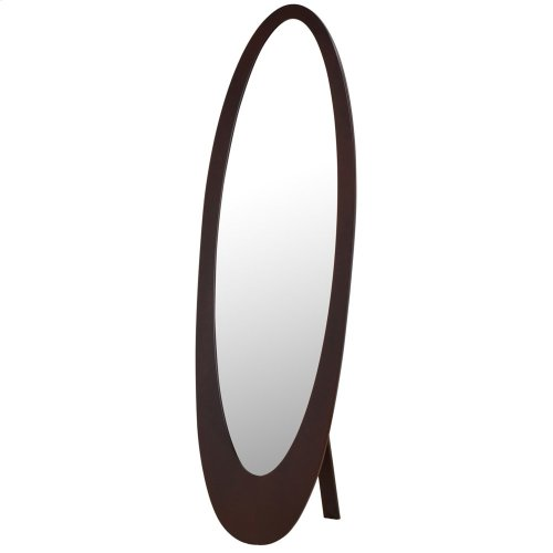 Infinity II Cheval Mirror in Cappuccino
