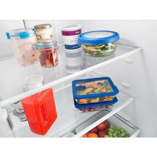 30-inch Amana® Top-Freezer Refrigerator with Glass Shelves - black
