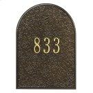 Mailbox Door Panel Black/Gold Product Image