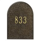 Mailbox Door Panel Black/Gold Product Image