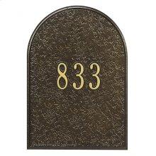 Mailbox Door Panel Black/Gold