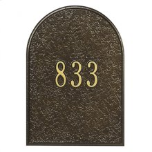 Mailbox Door Panel Black/Gold