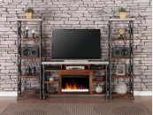 "Steampunk 62"" Fireplace Console"