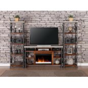 "Steampunk 62"" Fireplace Console"