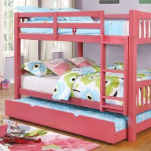 Cameron Full/full Bunk Bed, Pink