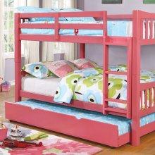 Cameron Full/full Bunk Bed, Pink