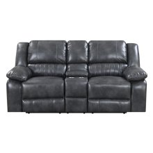 Emerald Home Navaro Motion Console Loveseat Gray U7120-09-03