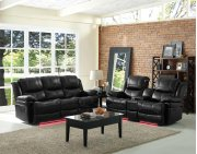 Rec Console Loveseat w/ Lights Product Image
