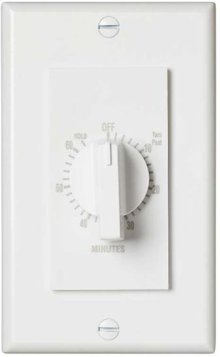 """60 Minute Time Control, with """"continuous on"""" feature. White, 20 amps, 120V"""