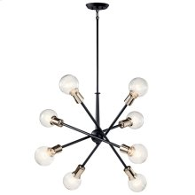 Armstrong 8 Light Chandelier Black