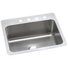 "Elkay Lustertone Classic Stainless Steel 27"" x 22"" x 10"", Single Bowl Dual Mount Sink"
