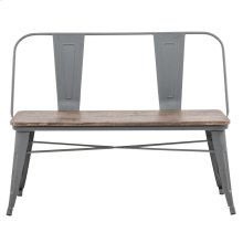 Tucker Bench With Back in Grey